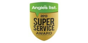 Angies List Super Service 2013 award logo